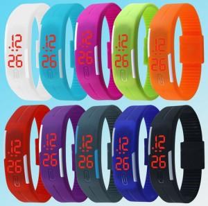Jam Tangan Anak2 LED Digital Touch Screen Digital Silikon Banyak Warna