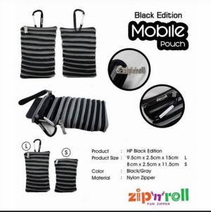 harga Dompet Handphone, Zip n Roll - MOBILE POUCH SMALL [HP-002] Grey-Black Tokopedia.com