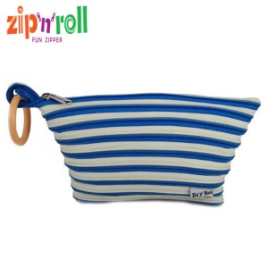 harga Tas Kosmetik - Zip n Roll - ACCESSORIES POUCH [AP-001] Blue-Cream Tokopedia.com