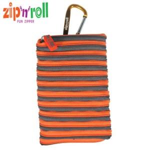 harga Dompet Handphone, Zip n Roll - MOBILE POUCH SMALL [HP-002] Grey-Orange Tokopedia.com