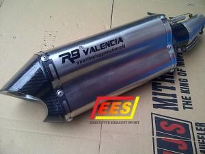 Knalpot R9 Valencia Full System V-Ixion, Byson, R15, Megapro, Tiger