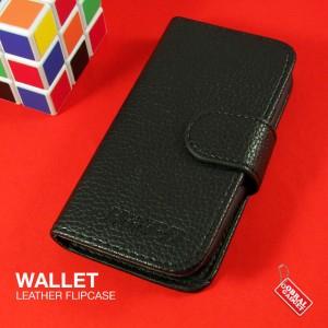 Motorola Fire XT XT530 Wallet Leather Flip Case Flipcase Cover Hitam