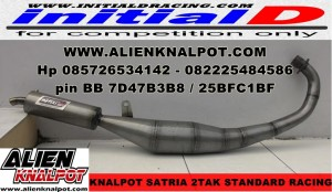 Knalpot Satria 2tak model Standard Racing