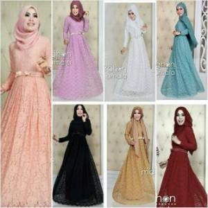 Jual Baju Gamis Hijab Solo Gamis Brokat Queen Pita