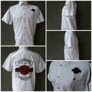 Kemeja Harley Davidson 99077 White
