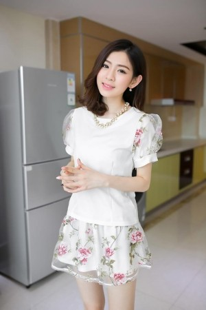 harga Blouse tutu flowers skirt import atasan baju rok wanita bunga setelan Tokopedia.com