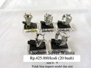 harga Grosir Ring / Emban Cincin Rhodium Silver Wanita (RSW01) Tokopedia.com