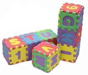 Karpet Puzzle Huruf Dan Angka Evamat 36 Buah Ukuran 8x8 Cm ...
