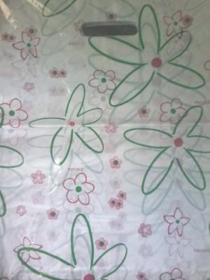 Kantong Plastik Motif bunga hijau uk 35 x 40 cm