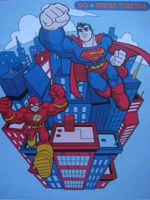 Selimut Internal Motif DC Superfriends Blue