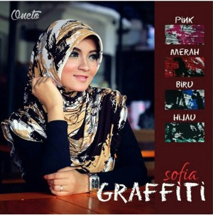 Jilbab instan bergo cantik sofia graffiti ori by oneto