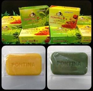 SABUN DUO HERBAL PONTINA ORIGINAL (kuning+hijau) / whitening soap