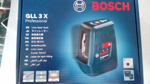 Bosch Cross Line Laser GLL 3X Auto Leveling