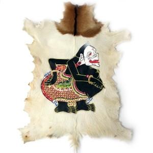 Lukisan Wayang Semar Kulit Kambing Full Body 77x55cm
