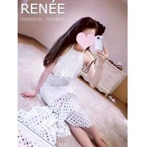 harga baju dress gaun pesta putih chiffon setelan blus rok korea hole import Tokopedia.com