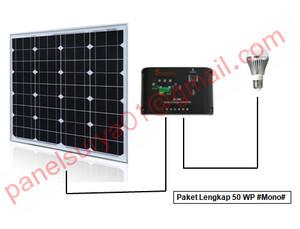 harga Paket Lengkap Solar Panel 50WP #Mono# (Panel + Controller + Bohlam) Tokopedia.com