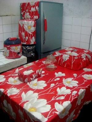 harga KITCHEN SET : Taplak + Sarung GKM / HOMESET / Set Dapur - Aliya - Tokopedia.com