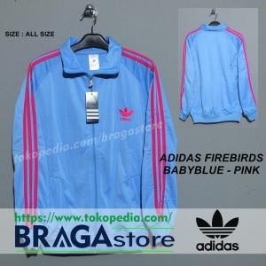 harga Jaket Adidas Firebirds Babyblue - Pink, Jaket Casuals Tokopedia.com