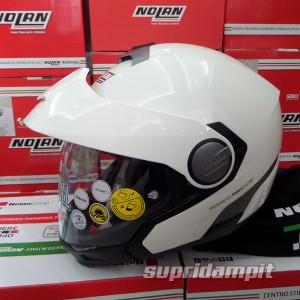 Helm Nolan N40 Full Classic Metal white Multy model not Arai Shoei AGV
