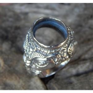 Jual Gagang Cincin Perak Motif Ukiran Dewa Ganesha