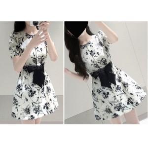 baju dress gaun chiffon korea motif import