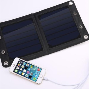 harga Charger/ Powerbank Tenaga Surya   7W Solar Panel Charger 2 Panel Tokopedia.com