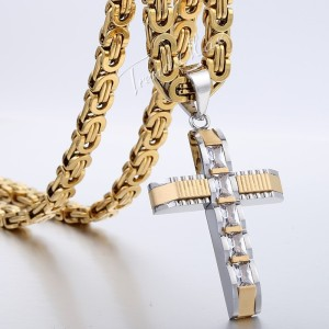 kalung salib Gold Railed Cross