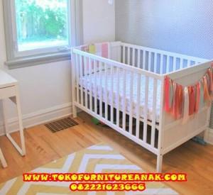 set perlengkapan kamar tempat tidur baby - ranjang box bayi and tafel