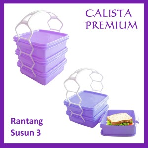 Rantang susun 3 Calista Premium - Purple Ungu