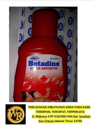 BETADINE SABUN CAIR 60 ML (ANTISEPTIK)