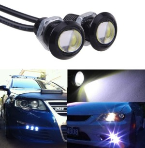 2pcs White Eagle Eye (Eyes) Led 9W/Led Mata Elang 9 Watt DRL - PUTIH
