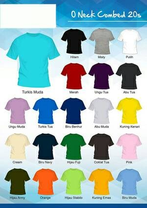 Jual Grosir Kaos Polos Cotton Combed 20s Murah & Berkualitas - Size M ...