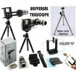 Lensa Telezoom + Tripod 8x Zoom