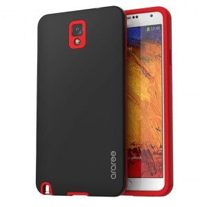 Araree Back Cute Case for Samsung Galaxy Note 3 - Black Red