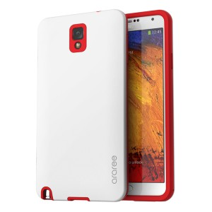 Araree Back Korean Case for Samsung Galaxy Note 3 - White-Red