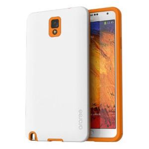 Araree Desain Back Case for Samsung Galaxy Note 3 - Putih Orange