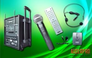 harga Portable Wireless Auderpro AP-909PA Innovasi Visual Complit Sound System MIC Wireless Indikator Frekuensi Tokopedia.com