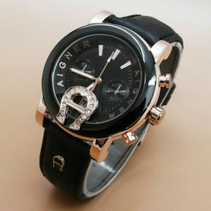 Jam tangan aigner baridona date leather kw super