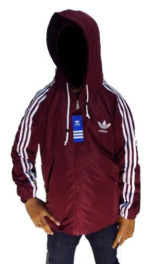 Jaket Adidas Parasut Wind Breaker Warna Merah Maroon