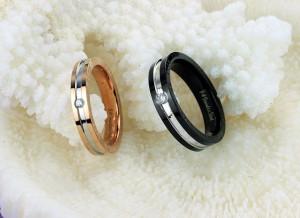 1 Pasang Cincin + Kotak Cincin Couple High Quality Kode CC-016