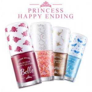 Etude Princess Happy Ending Nail Polish Set (Choose Type) Kutek Paket