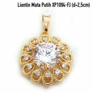 XP1094-FJ Liontin Mata Putih Perhiasan Lapis Emas Gold