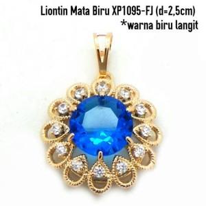XP1095-FJ Liontin Mata Biru Perhiasan Lapis Emas Gold