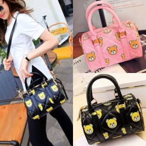 tas korea selempang mini bear cute tabug import