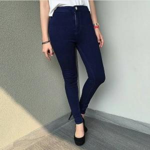 high waist jeans navy