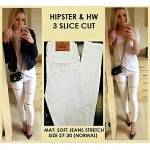 hipster plain white 3 slice cut