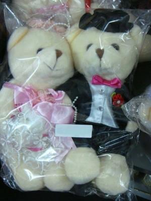 Souvenir Pernikahan Boneka Pengantin Pink Kecil