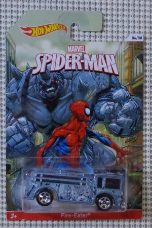 Spiderman 6 of 8 (Hot Wheels-Walmart-USA Edition) Fire-Eater