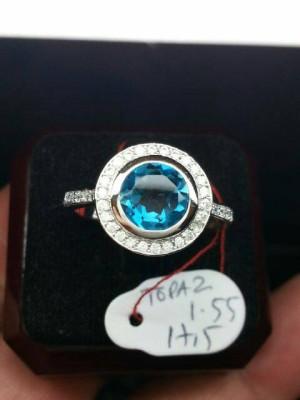 cincin blue topaz