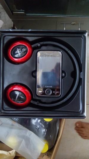 Hp murah cross d1t 2sim tv touch screen bluetooth headphones